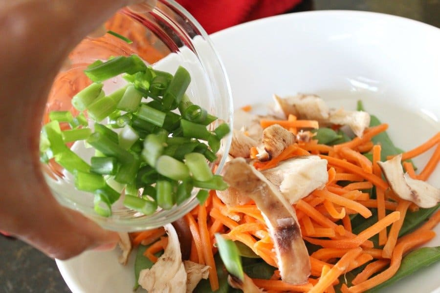 asian veggies with scallions