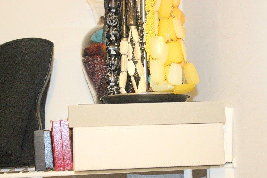 organized jewelry & scarves