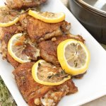 One pan lemon chicken with fresh thyme