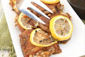Lemon herb chicken with fresh thyme