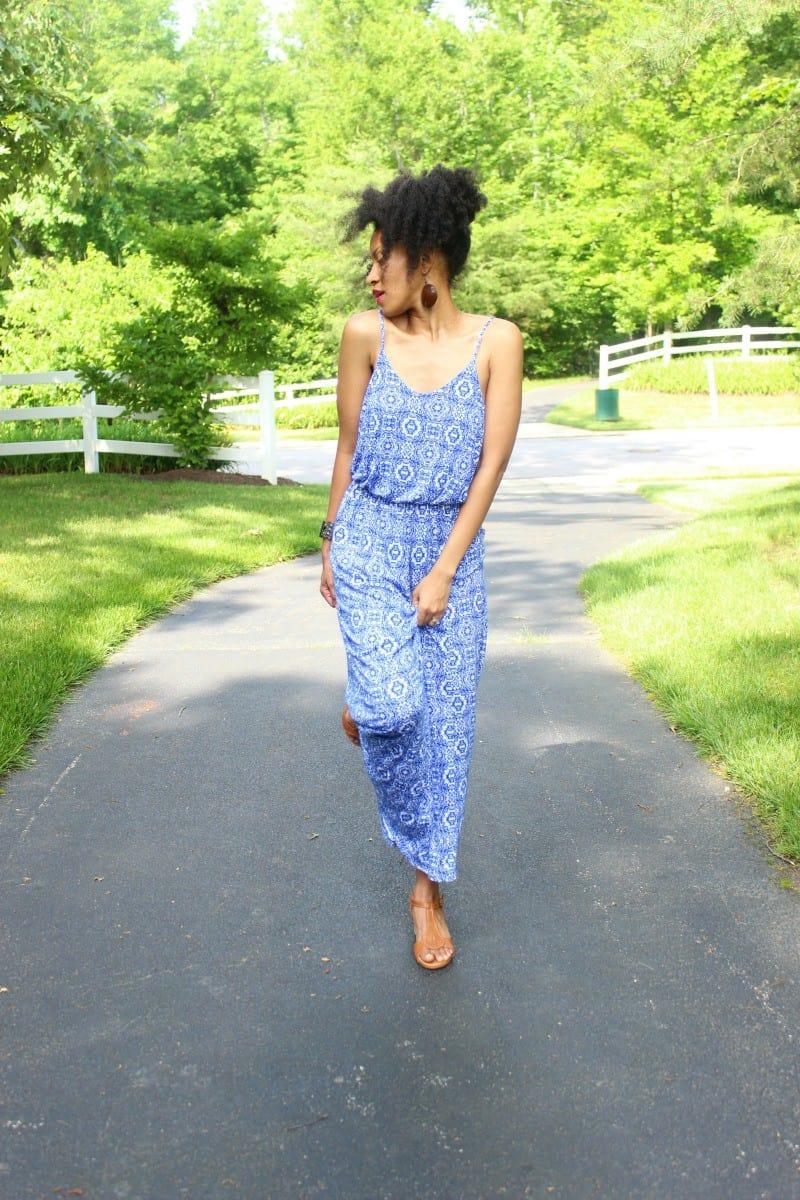 blue print lucy maxi dress