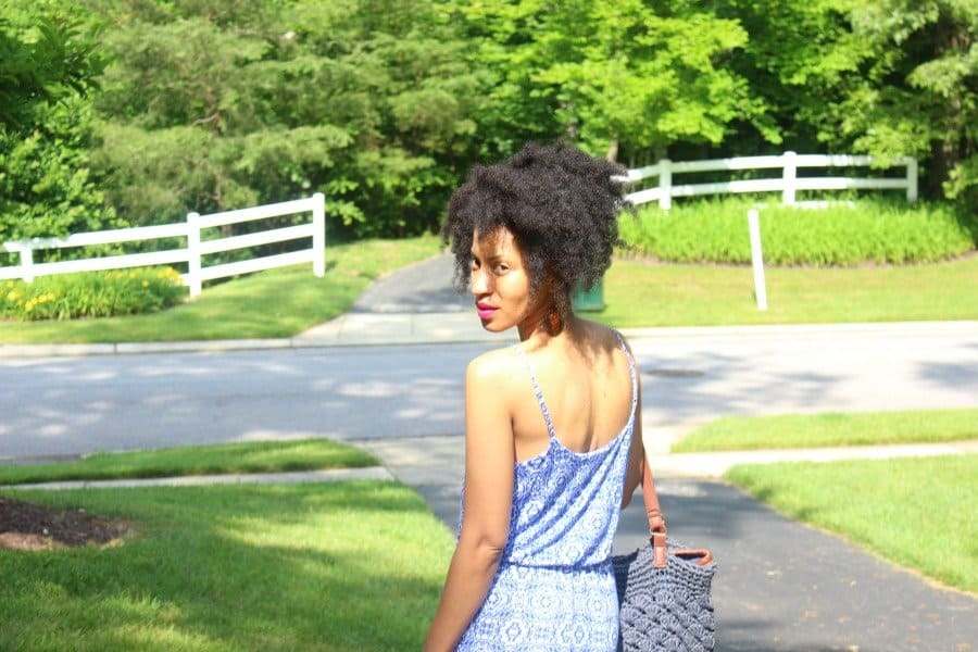 blue and white lucy maxi dress geometric print6