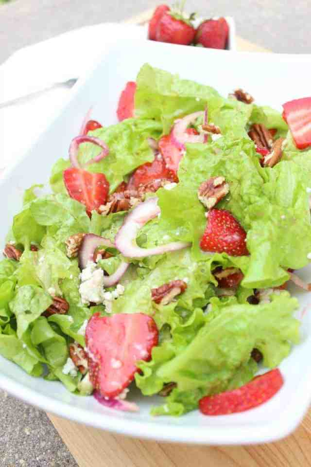 strawberry salad with honey balsamic dressing