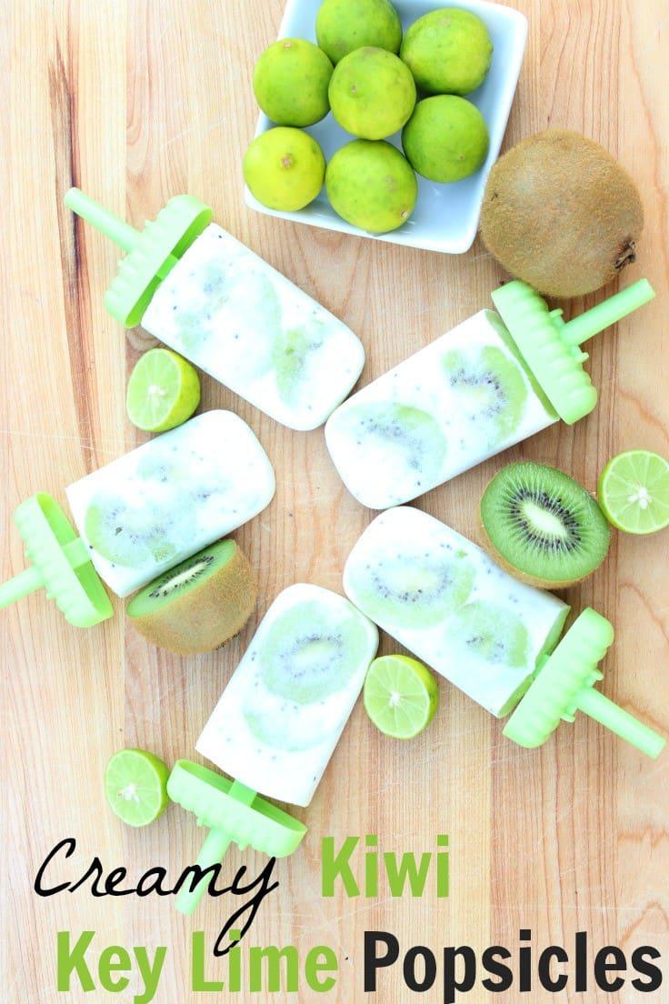 kiwi key lime dairy free popsicles