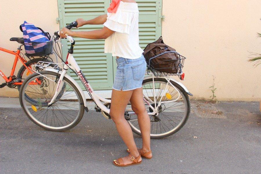 fashionably riding a bike 2