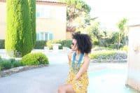 mustard short sleeve dress free people chateau de la messardiere