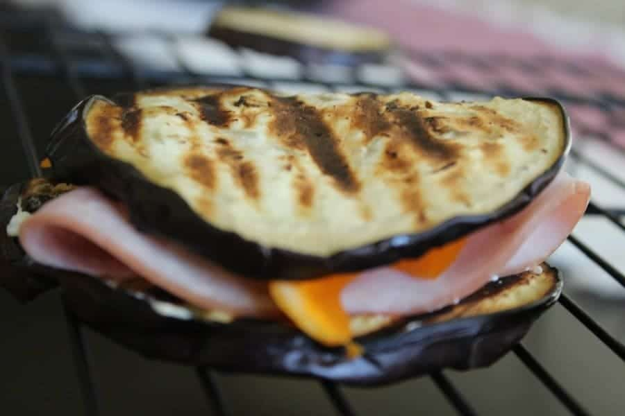 grilled eggplant turkey sandwich