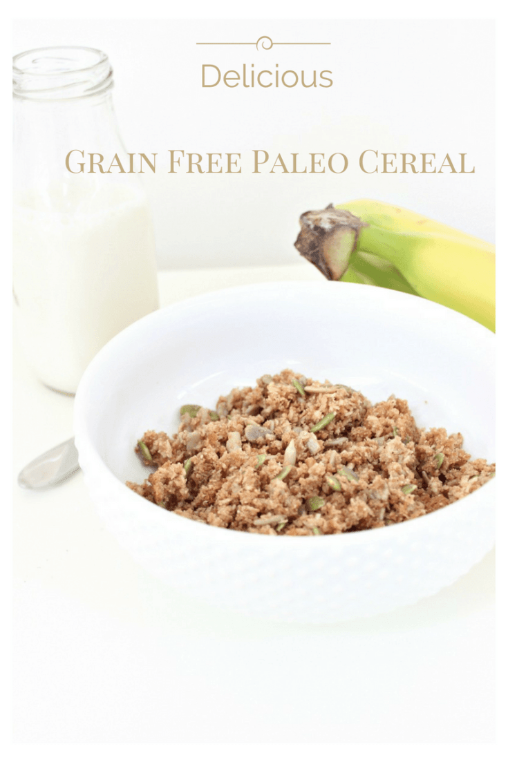 Grain free, nut free paleo granola cereal. Save money by making paleo crunch at home.