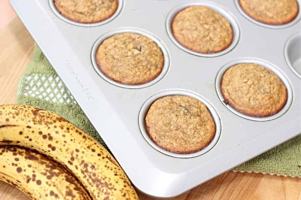 gluten free banana chocolate chip muffins