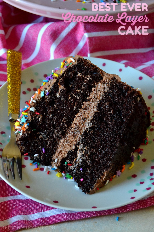 The Best Chocolate Layer Cake With Fudge Frosting The