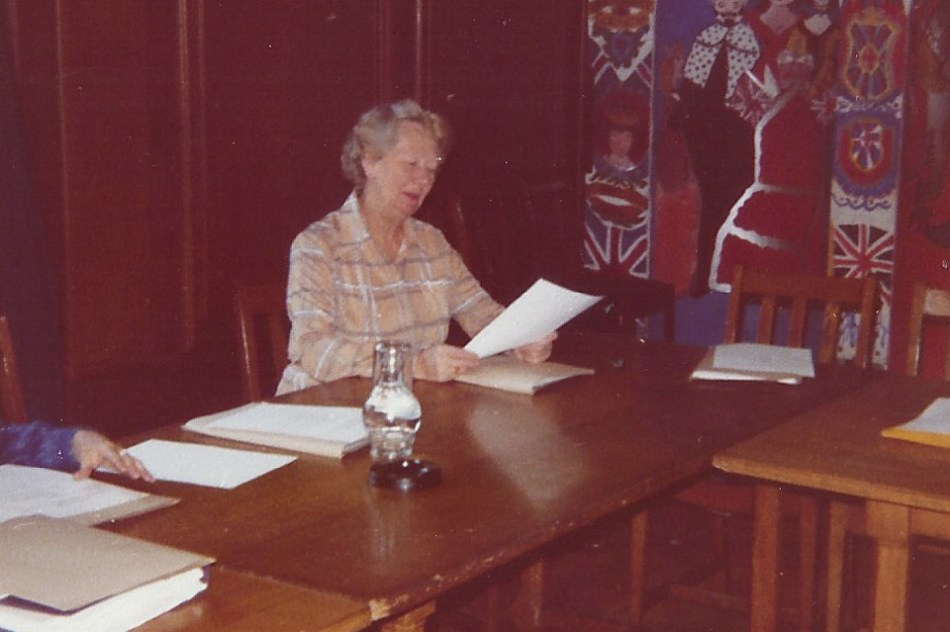 Miss Hilary Devereux, County Hall, 1979