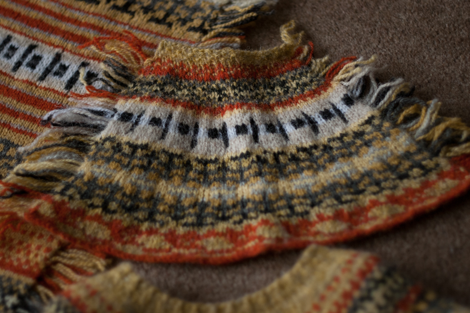 Petal Swatch for The Wonders of Electricity Yoke Sweater