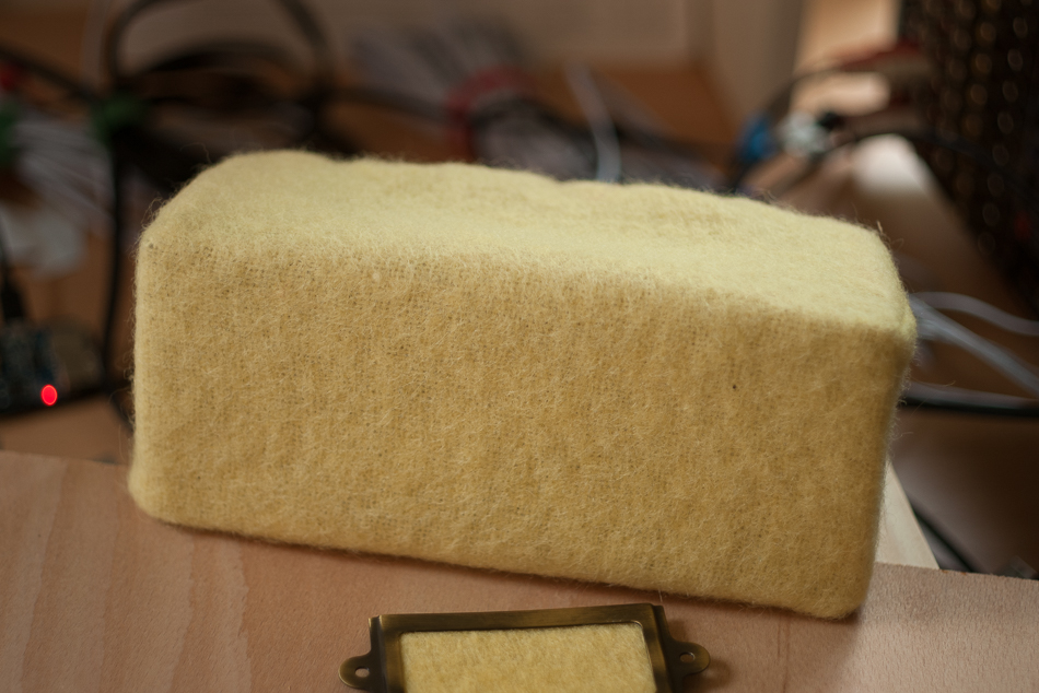 A speaker covered with a Witney blanket