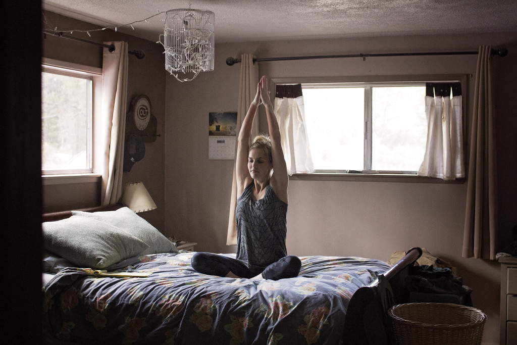 Yoga For Hangover: In Bed Yoga Stretches to Detox and Relax | A Domestic Wildflower click through for the sequence and to get the bedside list of poses to have you feeling better in no time!