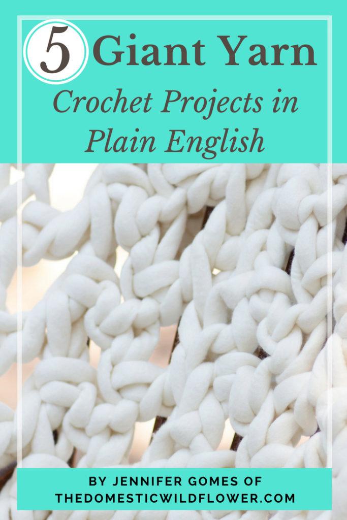 Giant Yarn Crochet Pattern Ebook