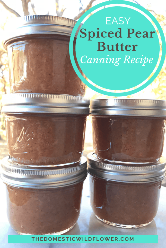 Spiced Pear Butter Canning Recipe