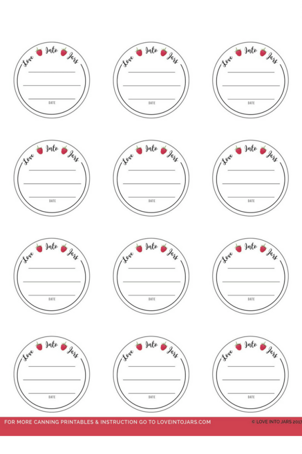 Round Canning Jar Labels   Love Into Jars