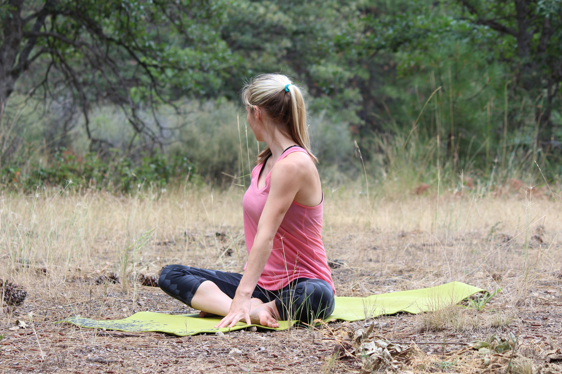 Yoga for Migraine | A Domestic Wildflower click through for a gentle set of yoga poses sure to relax and soothe.