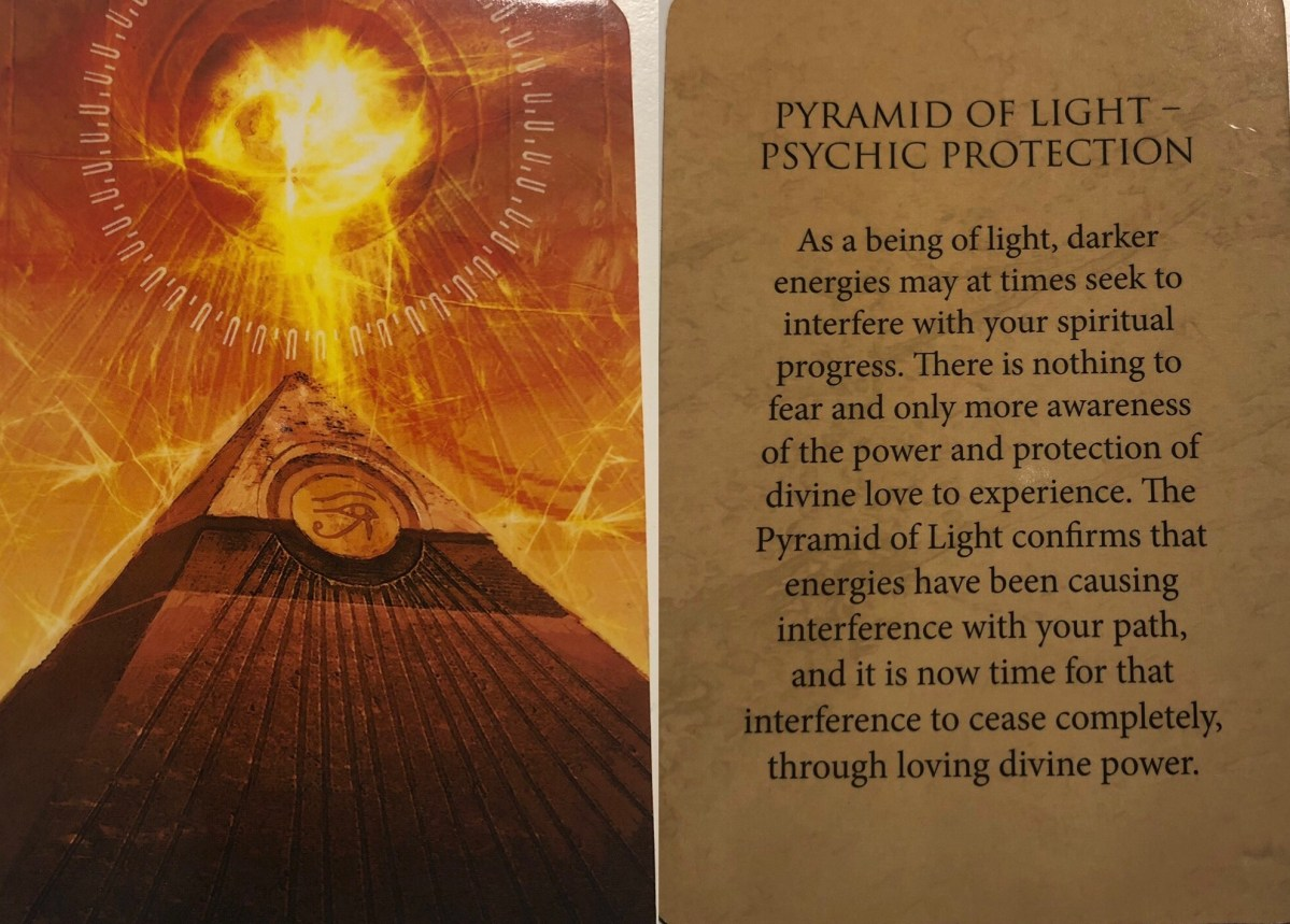 Pyramid of Light Oracle Card