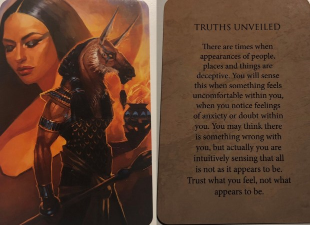 Truths Unveiled Oracle Card - tarotscope