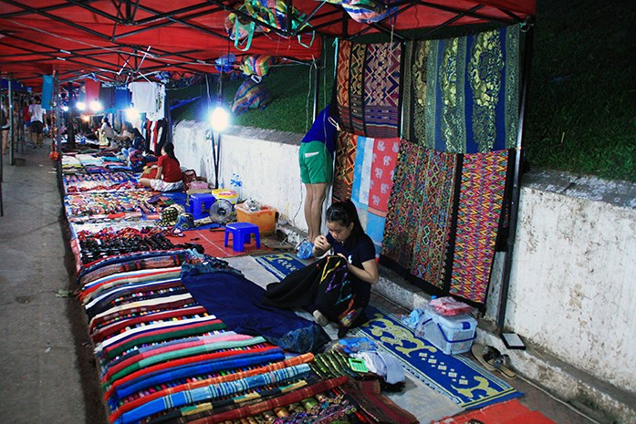 Nightmarket in Luang Prabang