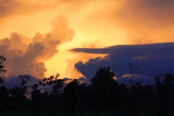 Sonnenuntergang in Laos