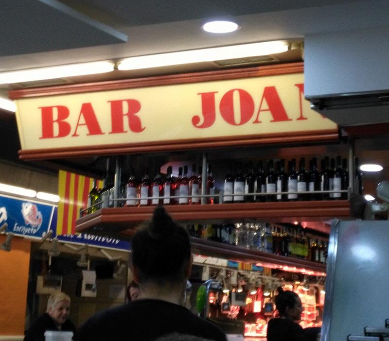 Bar Joan Barcelona