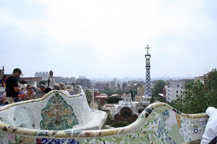 Barcelona vom Park Güell