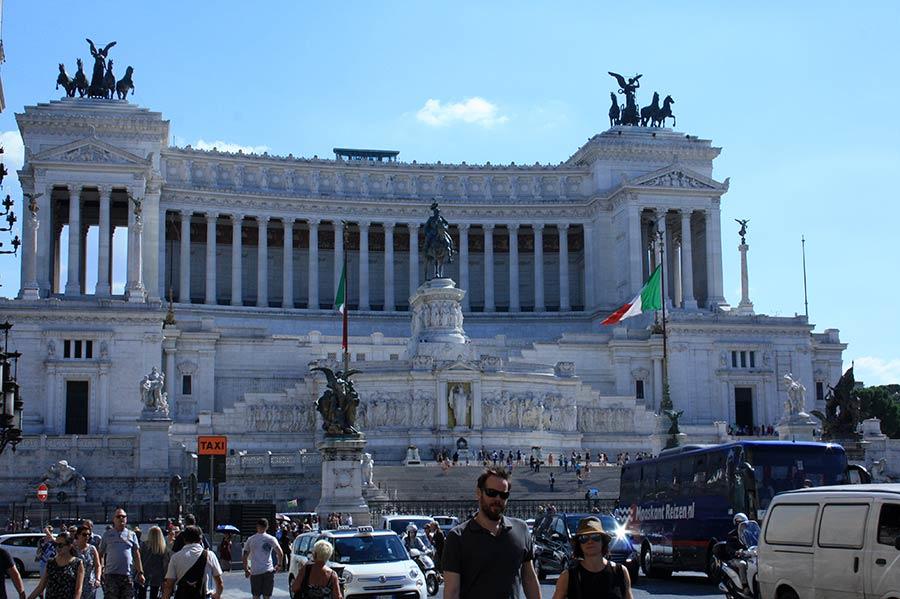 Rom zu Fuß: Monumento Vittorio Emmanuele II