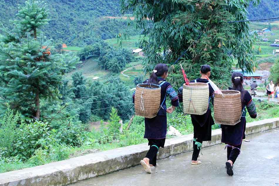 Sa Pa traditionelle Frauen