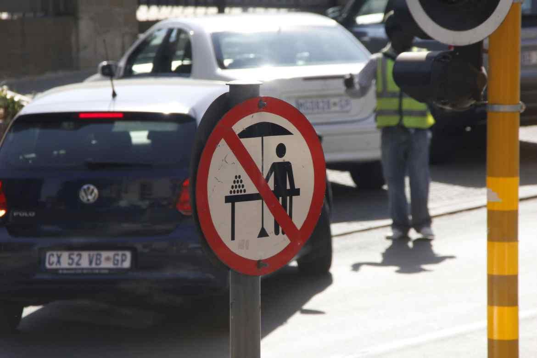 Straßenschild in Johannesburg