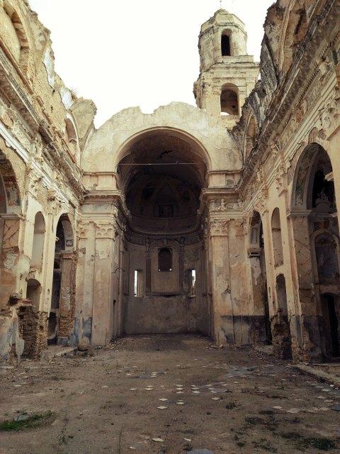 Zerstörte Kirche in Bussana Vecchia