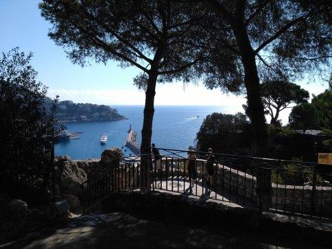 Nizza Hafen vom Berg der Nizza Reise
