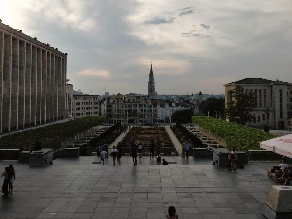 Ausblick über Brüssel