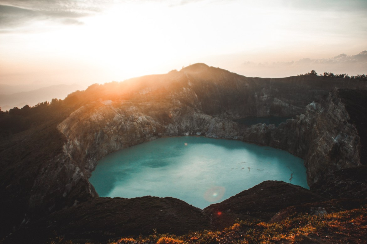 Sunrise at Kelimutu, Flores, Indonesia