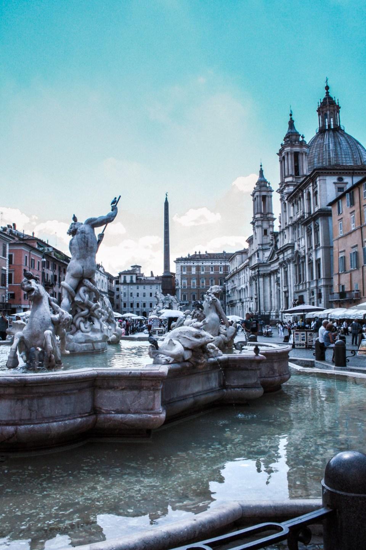 Piazza Navona auf der Strecke von Rom zu Fuß