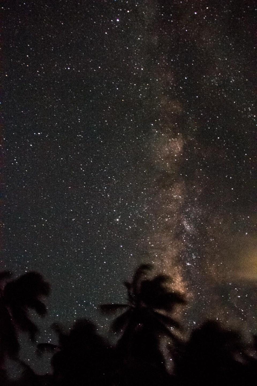 Nachthimmel über Tobacco Caye