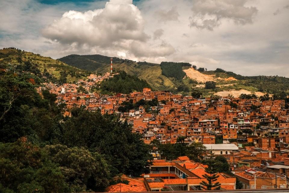 View over Comuna 13 in Medellin