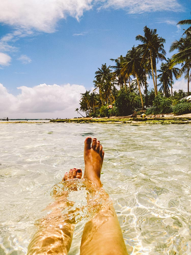 Füße im Paradies