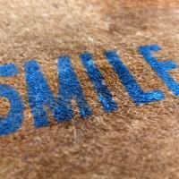 DIY 'SMILE' Doormat