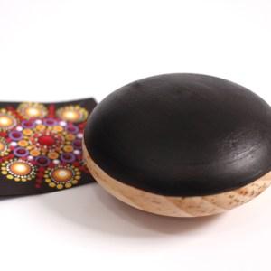 3″ Wood Pebble for dot mandala painting