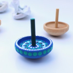 Small Wooden Spinning Top