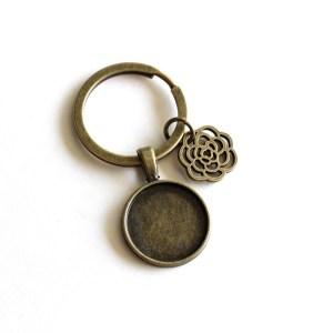 Flower Charm Keychain