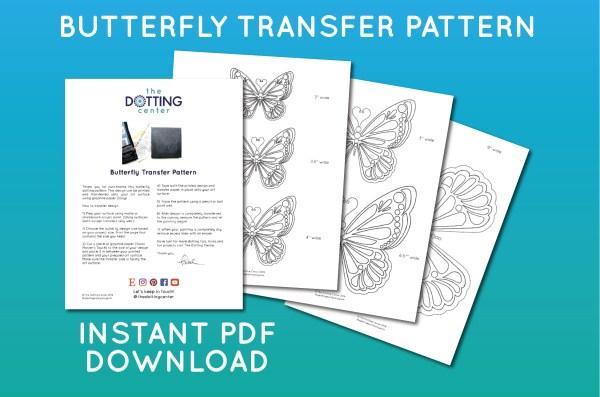 butterfly dotting PATTERN