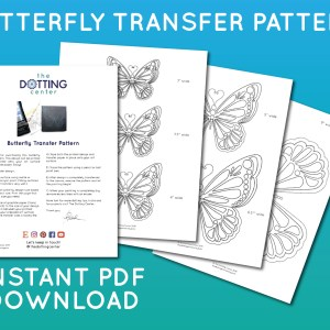 Butterfly Transfer Pattern – PDF Digital Download