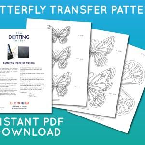 Butterfly Transfer Pattern – PDF Digital Download