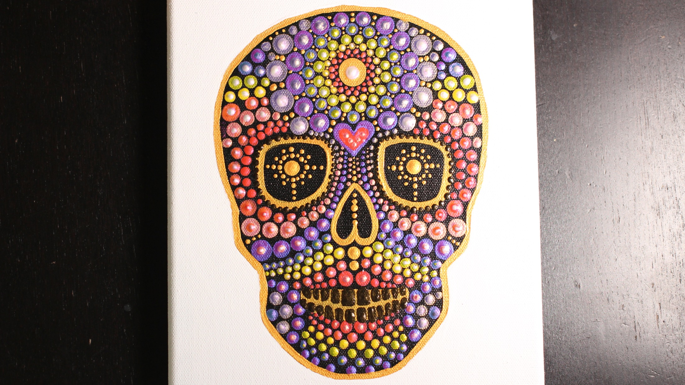 Rainbow Skull Pattern Tutorial Video