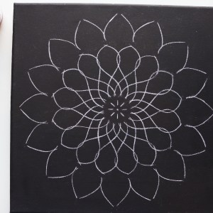 12″ Mandala 2 Stencil – Reversible – Large Mandala Stencil for dot mandala canvas