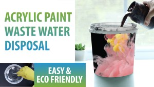 How to dispose of acrylic paint waste water