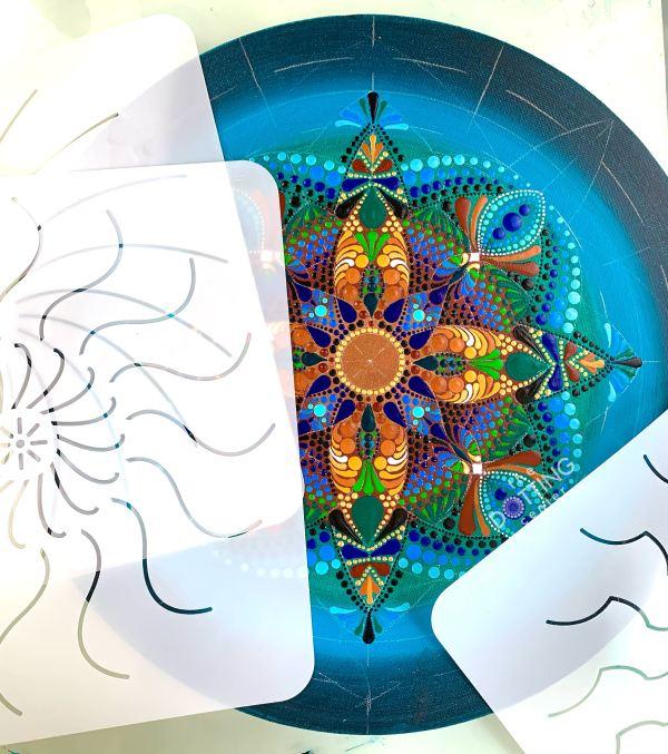 Daisy Mandala Stencil